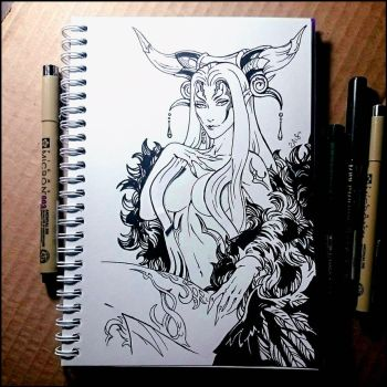 Sketchbook -  Ultimecia (NSFW on Patreon) by Candra