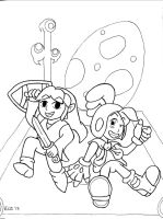 Wind Waker and Billy Hatcher 10th Tribute (inked) by hotcheeto89