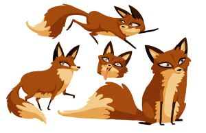 Foxy characters by cachava