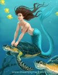 Mermaid Sea Turtle: COLORS by DreamPigment
