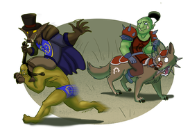 Worgen racial mount by tigon
