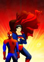 Superman and Spiderman by jotakaanimation