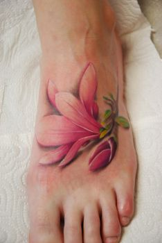 flowers tattoo by larvart