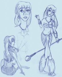 Kida sketches by Yaraffinity
