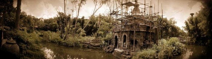 River and 'Asian' Ruin by matic