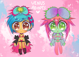 Venus Fly Trap Adopts {POINTS AND PAYPAL} (CLOSED) by Mushroom-Hime