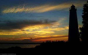 Dusk at Lighthouse Point by abaldwin