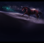 she walks in starlight, by melancholycoyote