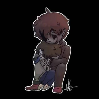 eyeless toby art collab by 123mangle321