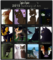 2015 Summary of Art by Spiritpie