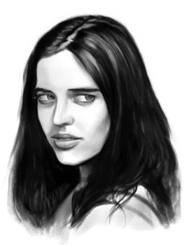Eva Green sketch 3 by tonyob
