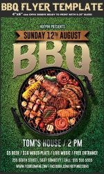 Barbecue Bbq Flyer Template by Hotpindesigns