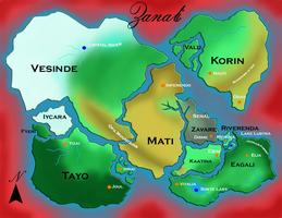 New Map of Zanali by AngelicEmpyress