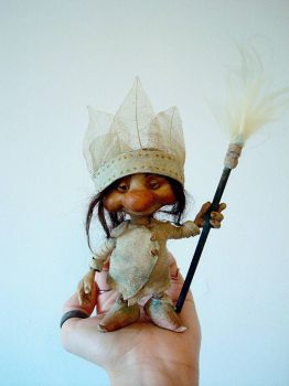 SOLD - Wild Pixie Poseable Art Doll by FaunleyFae