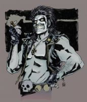 Lobo Sketch By Dean Kotz Color By Chaz by ChazWest