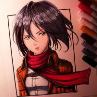 Mikasa Ackerman Drawing by LethalChris