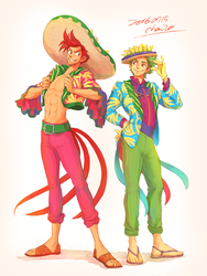 Panchito and Jose by chacckco
