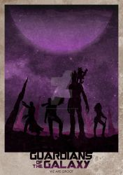 Guardians Of The Galaxy by ryanswannick