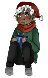 Christmas Fenris by AngelicsCanvas