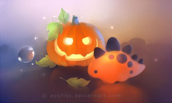 pumpkin dino by Apofiss