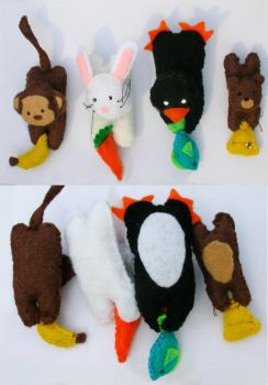 Assorted mini-plushies by shenanigancrafts