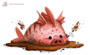 Daily Paint #1021. Mud-fish by Cryptid-Creations