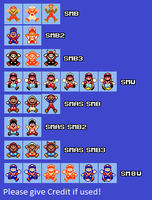 SMM Big Mario Death Sprites by Dariuscox357