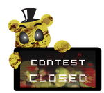 Golden Freddy Contest Closed Stamp by InkCartoon