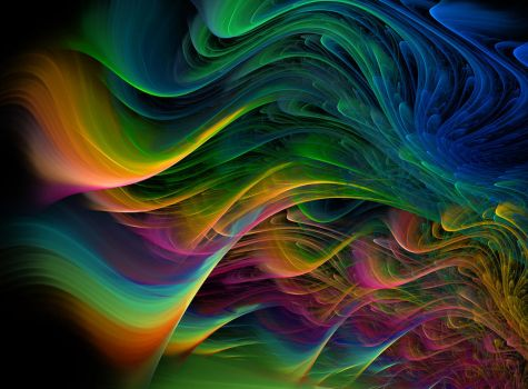 Multicolored Waves 11678924 by StockProject1