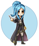 Comish: Chibi Millia by SlayersStronghold