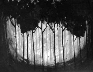 Forest (Ink study 4) by monochromepony625