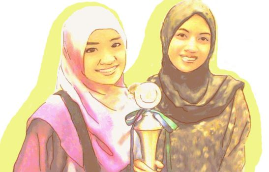 Hannah and Najwa by hanhak