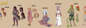 Afterland characters by lostonezero