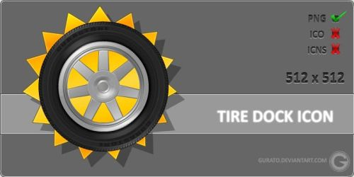 Tire Dock Icon by Gurato