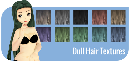 [MMD] Dull Hair Texture - DL by octoshiba