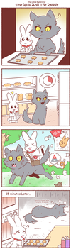 [FanArt] Wolf And Rabbit by vavacung
