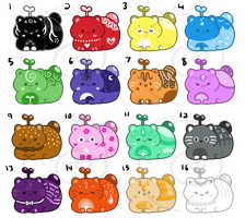Catbean Batch 3 - Set Price [CLOSED] by HopefulAdopts