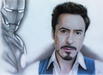 Robert Downey Jr. Drawing by JakubQaazAdamski