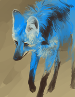 Azure wolf by Dragoreon