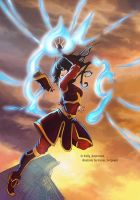 Gift: Azula on war ballon by kelly1412