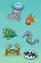 Ocean Animals by SethWolfshorndl