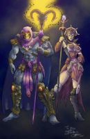 Skeletor and Evil-Lyn brighter by Myko--