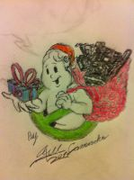 Ghostbusters Christmas Holiday Logo Special by GBAxel