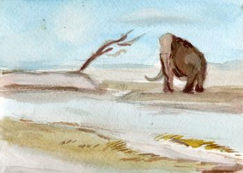 Mammoth Water Color by ChameleonBrain