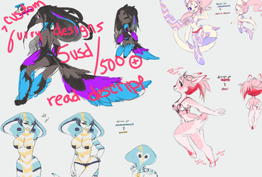 anthro semi-customs designs available (limited) by twin-tail