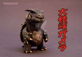 GAMERA FANART - mini Sculpture by buzhandmade