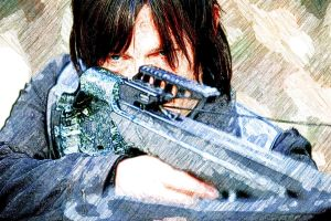 Daryl Dixon and His Crossbow by Giannitoarlie