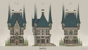 Cannibal Inn mansion orthos by wavenwater