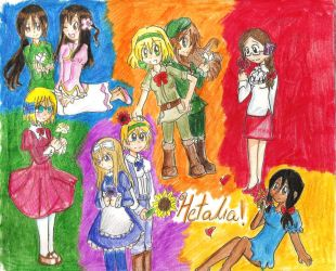 APH: Colors and Flowers by freaky-anime-doodler