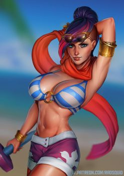 Pool Party Fiora ! by essentialsquid